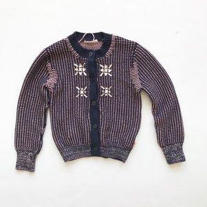 Billieblush knit cardigan w/rhinestones EUC 5T